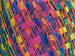 Trellis  Fiber Content 100% Polyester, Yellow, Pink, Brand Ice Yarns, Blue, Yarn Thickness 5 Bulky  Chunky, Craft, Rug, fnt2-46584