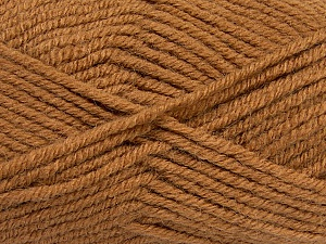 Fiber Content 50% Acrylic, 25% Wool, 25% Alpaca, Light Brown, Brand Ice Yarns, Yarn Thickness 5 Bulky  Chunky, Craft, Rug, fnt2-47134
