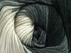 Fiber Content 100% Acrylic, White, Brand Ice Yarns, Grey, Black, Yarn Thickness 4 Medium  Worsted, Afghan, Aran, fnt2-48629