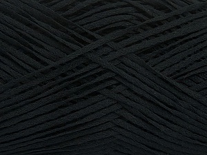 Fiber Content 50% Acrylic, 50% Cotton, Brand Ice Yarns, Black, Yarn Thickness 2 Fine  Sport, Baby, fnt2-49416