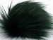 2 Faux Fur PomPoms Dark Green