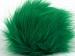 2 Faux Fur PomPoms Green