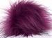 2 Faux Fur PomPoms Purple