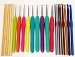 22 Sizes Bamboo - Soft Grip - Color Hook Set .