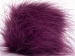 2 Faux Fur PomPoms Purple