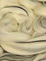 50gr-1.8m (1.76oz-1.97yards) 100% Wool felt Fiber Content 100% Wool, Brand Ice Yarns, Cream, Black, acs-984
