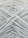 Width is 3 mm Fiber Content 100% Polyester, Silver, Brand Ice Yarns, fnt2-51849