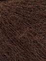 Fiber Content 52% SuperKid Mohair, 35% Polyamide, 13% Superwash Extrafine Merino Wool, Brand Ice Yarns, Dark Brown, Yarn Thickness 1 SuperFine  Sock, Fingering, Baby, fnt2-52757