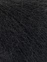 Fiber Content 52% SuperKid Mohair, 35% Polyamide, 13% Superwash Extrafine Merino Wool, Brand Ice Yarns, Black, Yarn Thickness 1 SuperFine  Sock, Fingering, Baby, fnt2-53026
