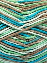 Fiber Content 100% Cotton, White, Turquoise, Mint Green, Brand Ice Yarns, Camel, Yarn Thickness 3 Light  DK, Light, Worsted, fnt2-54355