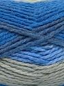 Fiber Content 70% Acrylic, 30% Wool, Brand Ice Yarns, Grey, Blue Shades, Yarn Thickness 4 Medium  Worsted, Afghan, Aran, fnt2-54677