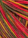 Fiber Content 50% Acrylic, 50% Wool, Pink, Maroon, Brand Ice Yarns, Green Shades, Yarn Thickness 3 Light  DK, Light, Worsted, fnt2-56206