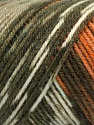 Fiber Content 50% Wool, 50% Acrylic, Turquoise, Orange, Khaki Shades, Brand Ice Yarns, Brown, Yarn Thickness 3 Light  DK, Light, Worsted, fnt2-56447