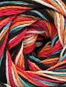 Fiber Content 100% Acrylic, White, Turquoise, Salmon, Orange, Brand Ice Yarns, Black, Yarn Thickness 3 Light  DK, Light, Worsted, fnt2-57764