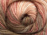 Fiber Content 50% Mohair, 50% Acrylic, White, Salmon Shades, Brand Ice Yarns, Brown Shades, Yarn Thickness 2 Fine  Sport, Baby, fnt2-58358