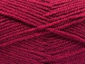 Fiber Content 50% Wool, 50% Acrylic, Brand Ice Yarns, Dark Fuchsia, Yarn Thickness 4 Medium  Worsted, Afghan, Aran, fnt2-58382