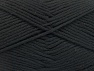 Fiber Content 52% Nylon, 48% Acrylic, Brand Ice Yarns, Black, Yarn Thickness 4 Medium  Worsted, Afghan, Aran, fnt2-63460