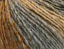 Fiber Content 70% Acrylic, 30% Wool, Brand Ice Yarns, Grey Shades, Gold, Yarn Thickness 4 Medium  Worsted, Afghan, Aran, fnt2-64138