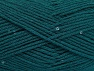 Fiber Content 98% Acrylic, 2% Paillette, Brand Ice Yarns, Emerald Green, Yarn Thickness 4 Medium  Worsted, Afghan, Aran, fnt2-64449