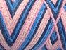 Fiberinnehåll 50% Polyamid, 50% Akryl, Pink Shades, Brand Ice Yarns, Blue Shades, Yarn Thickness 4 Medium  Worsted, Afghan, Aran, fnt2-64475