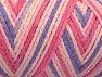Fiberinnehåll 50% Polyamid, 50% Akryl, Pink Shades, Lilac, Brand Ice Yarns, Yarn Thickness 4 Medium  Worsted, Afghan, Aran, fnt2-64476