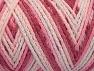 Fiberinnehåll 50% Polyamid, 50% Akryl, White, Pink Shades, Brand Ice Yarns, Yarn Thickness 4 Medium  Worsted, Afghan, Aran, fnt2-64478