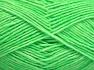 Fiber Content 80% Cotton, 20% Acrylic, Neon Green, Brand Ice Yarns, Yarn Thickness 2 Fine  Sport, Baby, fnt2-64557