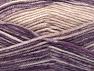 Fiber Content 50% Premium Acrylic, 50% Wool, Purple Shades, Powder Pink, Brand Ice Yarns, Yarn Thickness 4 Medium  Worsted, Afghan, Aran, fnt2-65290