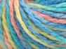 Fiber Content 50% Acrylic, 50% Wool, Turquoise Shades, Light Salmon, Light Green, Brand Ice Yarns, Yarn Thickness 4 Medium  Worsted, Afghan, Aran, fnt2-65659