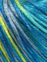 Tencel (Lyocell) is a form of rayon that consists of cellulose fiber made from beech and eucalyptus trees. Main characteristics of lyocell fibers are that they are sustainable, soft, absorbent, very strong when wet or dry, and resistant to wrinkles. Fiber Content 67% Tencel, 33% Polyamide, Turquoise Shades, Neon Green, Light Grey, Brand Ice Yarns, Yarn Thickness 4 Medium  Worsted, Afghan, Aran, fnt2-66220