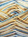 Fiber Content 50% Cotton, 50% Acrylic, Brand Ice Yarns, Cream, Camel, Blue Shades, Yarn Thickness 2 Fine  Sport, Baby, fnt2-66579