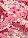 Fiber Content 50% Acrylic, 50% Polyamide, White, Pink Shades, Brand Ice Yarns, Yarn Thickness 6 SuperBulky  Bulky, Roving, fnt2-66617