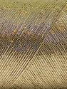 Fiber Content 70% Metallic Lurex, 30% Cotton, Brand Ice Yarns, Gold, Yarn Thickness 1 SuperFine  Sock, Fingering, Baby, fnt2-66887