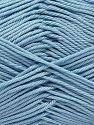 Fiber Content 100% Mercerised Giza Cotton, Light Blue, Brand Ice Yarns, Yarn Thickness 2 Fine  Sport, Baby, fnt2-66947