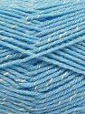 Fiber Content 76% Acrylic, 14% Cotton, 10% Bamboo, Brand Ice Yarns, Cream, Baby Blue, Yarn Thickness 2 Fine  Sport, Baby, fnt2-67092