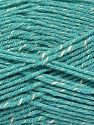 Fiber Content 76% Acrylic, 14% Cotton, 10% Bamboo, Light Turquoise, Brand Ice Yarns, Cream, Yarn Thickness 2 Fine  Sport, Baby, fnt2-67093