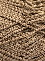 Width is 2-3 mm Fiber Content 100% Polyester, Brand Ice Yarns, Camel, fnt2-67139