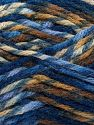 Fiber Content 75% Premium Acrylic, 25% Wool, Brand Ice Yarns, Brown Shades, Blue Shades, Yarn Thickness 5 Bulky  Chunky, Craft, Rug, fnt2-67186