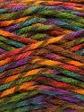 Fiber Content 75% Premium Acrylic, 25% Wool, Rainbow, Brand Ice Yarns, Yarn Thickness 5 Bulky  Chunky, Craft, Rug, fnt2-67194