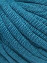 This is a tube-like yarn with soft cotton fleece filled inside. Contenido de fibra 70% Algodón, 30% Poliéster, Brand Ice Yarns, Dark Teal, Yarn Thickness 5 Bulky  Chunky, Craft, Rug, fnt2-67307