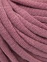 This is a tube-like yarn with soft cotton fleece filled inside. Contenido de fibra 70% Algodón, 30% Poliéster, Orchid, Brand Ice Yarns, Yarn Thickness 5 Bulky  Chunky, Craft, Rug, fnt2-67313