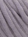 This is a tube-like yarn with soft cotton fleece filled inside. Fiber Content 70% Cotton, 30% Polyester, Light Lilac, Brand Ice Yarns, Yarn Thickness 5 Bulky  Chunky, Craft, Rug, fnt2-67314