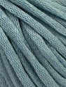 This is a tube-like yarn with soft cotton fleece filled inside. Contenido de fibra 70% Algodón, 30% Poliéster, Light Blue, Brand Ice Yarns, Yarn Thickness 5 Bulky  Chunky, Craft, Rug, fnt2-67315