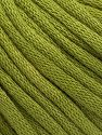This is a tube-like yarn with soft cotton fleece filled inside. Contenido de fibra 70% Algodón, 30% Poliéster, Brand Ice Yarns, Dark Green, Yarn Thickness 5 Bulky  Chunky, Craft, Rug, fnt2-67318