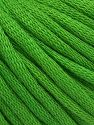 This is a tube-like yarn with soft cotton fleece filled inside. Fiber Content 70% Cotton, 30% Polyester, Brand Ice Yarns, Green, Yarn Thickness 5 Bulky  Chunky, Craft, Rug, fnt2-67319