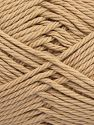 Contenido de fibra 100% Algodón, Brand Ice Yarns, Beige, Yarn Thickness 4 Medium  Worsted, Afghan, Aran, fnt2-67329