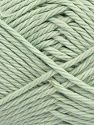 Fiber Content 100% Cotton, Mint Green, Brand Ice Yarns, Yarn Thickness 4 Medium  Worsted, Afghan, Aran, fnt2-67337