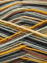 Fiber Content 75% Superwash Wool, 25% Polyamide, Brand Ice Yarns, Grey Shades, Gold, Brown Shades, Yarn Thickness 1 SuperFine  Sock, Fingering, Baby, fnt2-67404
