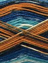 Fiber Content 75% Superwash Wool, 25% Polyamide, Turquoise, Navy, Brand Ice Yarns, Gold, Cream, Blue, Yarn Thickness 1 SuperFine  Sock, Fingering, Baby, fnt2-67408