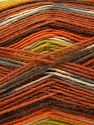 Fiber Content 75% Superwash Wool, 25% Polyamide, Orange, Brand Ice Yarns, Grey, Green, Cream, Copper, Yarn Thickness 1 SuperFine  Sock, Fingering, Baby, fnt2-67414